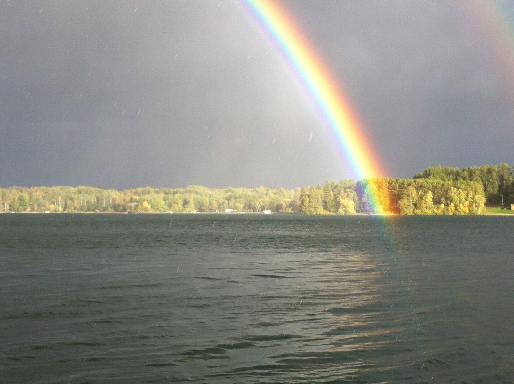 Rainbow so close, you can almost touch it!